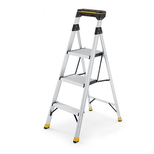 Gorilla Ladders 4.5 ft. Aluminum Dual Platform Ladder With Project Flip Top Tray