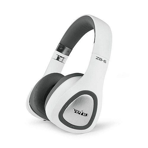 Casque découte sans fil Bluetooth ZB-6 - Blanc