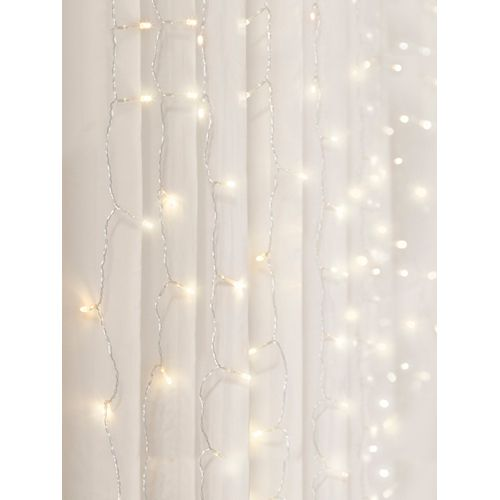 3.5 ft. x 5 ft. Cascading LED Lighting Warm White Curtain Lights