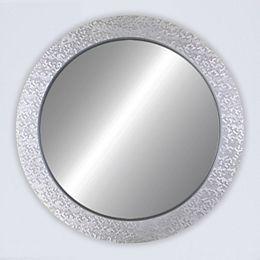 Oculus, Miroir rond en argent 32 po x 32 po
