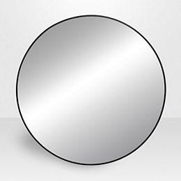 Infini,  Miroir rond en métal noir 31.5 po x 31.5 po