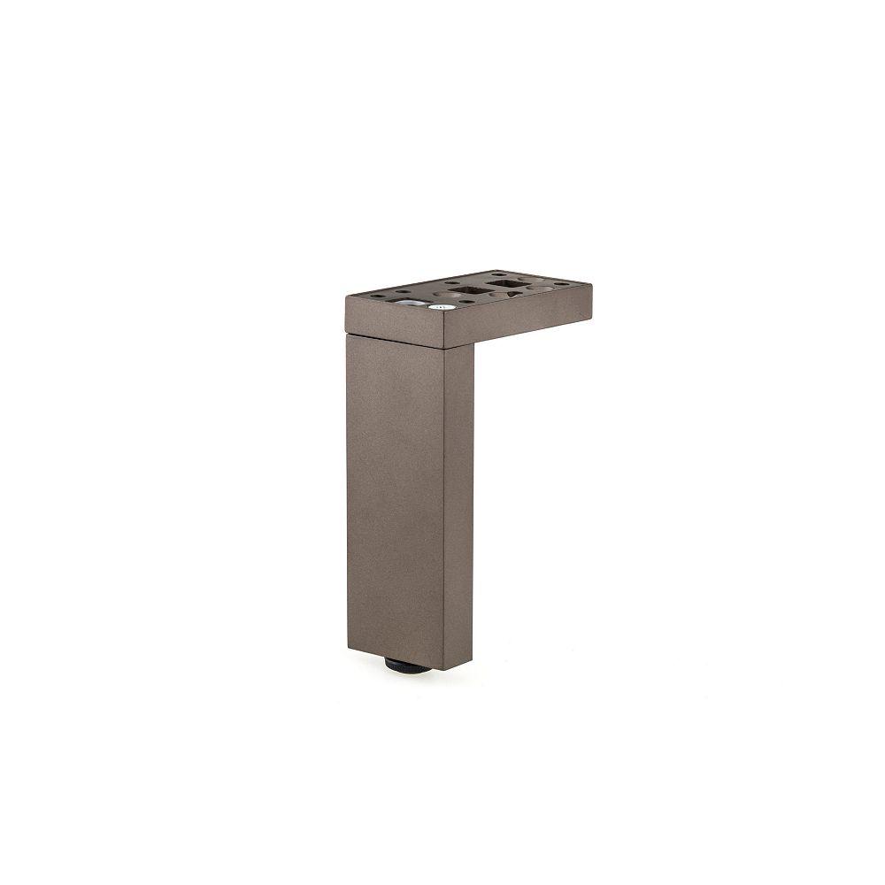 Richelieu Patte de meuble moderne polyvalente à montage en T ou L, Ajustable, 3 15/16 po (100 mm), Bronze