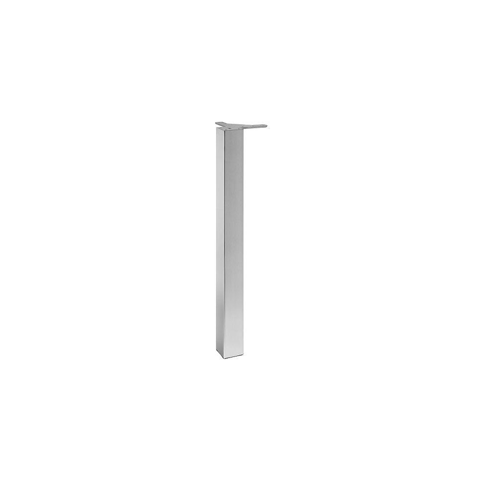 Richelieu (Paquet de 4) Patte de table carrée réglable, 27 3/4 po (705 mm), Acier inoxydable