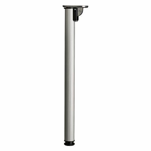 Folding Table Leg, 28 in (711 mm), Aluminum, Adjustable