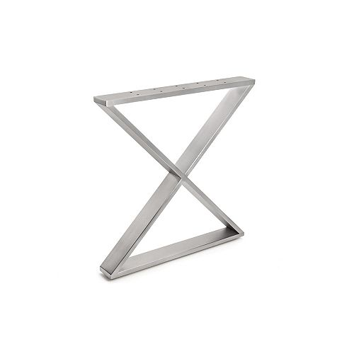 (2 Pack) 27 15/16-inch (710 mm) X-Shaped Legs, Stainless Steel, 200 kg