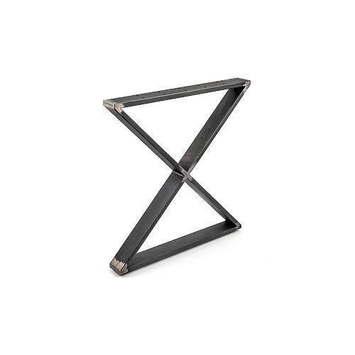 (2 Pack) 27 15/16-inch (710 mm) X-Shaped Legs, Matte Black Iron, 200 kg