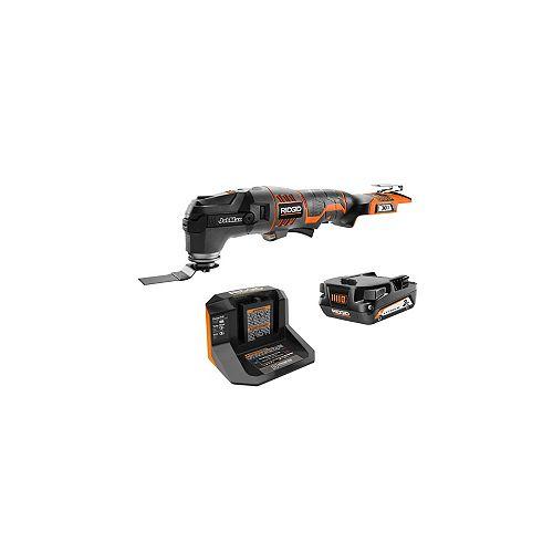 Kit multi-outils 18V JobMax avec batterie 2,0 Ah, chargeur et accessoires