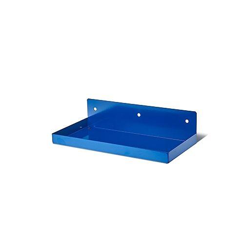 12 In. W x 6 In. Deep Blue Epoxy Coated Steel Shelf For 1/8 In. and 1/4 In. Pegboard