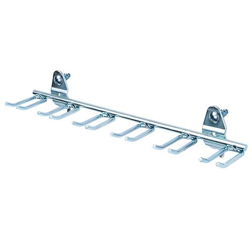 8-1/8 In. W, Steel Multi-Prong Tool/Wrench Holder For 1/8 In. and 1/4 In. Pegboard, 5 Pack