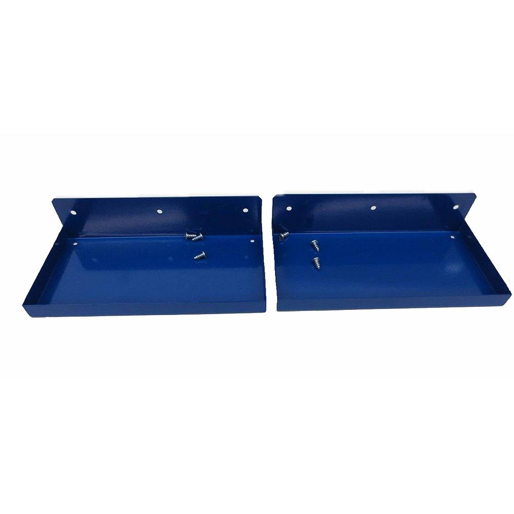 Triton 12 In. W x 6 In. Deep Blue Epoxy Coated Steel Shelf For 1/8 In. and 1/4 In. Pegboard