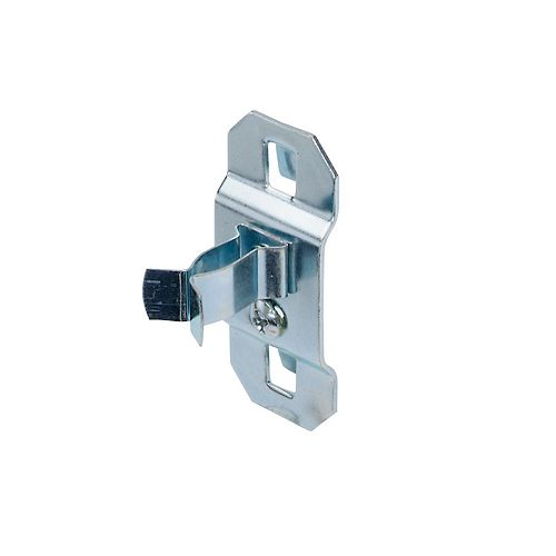 1/4 In. to 1/2 In. Hold Range 7/8 In. Projection, Steel Extended Spring Clip for LocBoard, 5 Pack