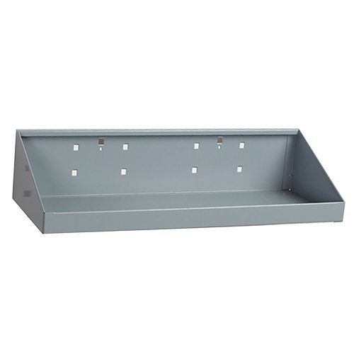 18 In. W x 6-1/2 In. Deep Gray Epoxy Powder Coated Steel Shelf for LocBoard