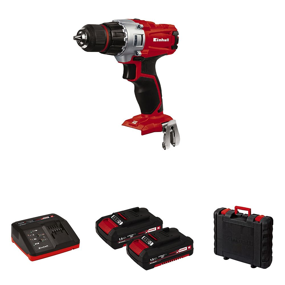 Einhell PXC 18-Volt Cordless 2-Speed, Drill / Driver Kit (w/ 2 x 1.5-Ah Battery and Fast Charger)