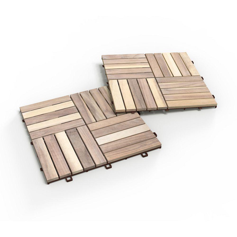 Interbuild Acacia Camp20 Deck Tiles 25 Boxes 250 Tiles 250 Square Feet Organic White The Home Depot Canada