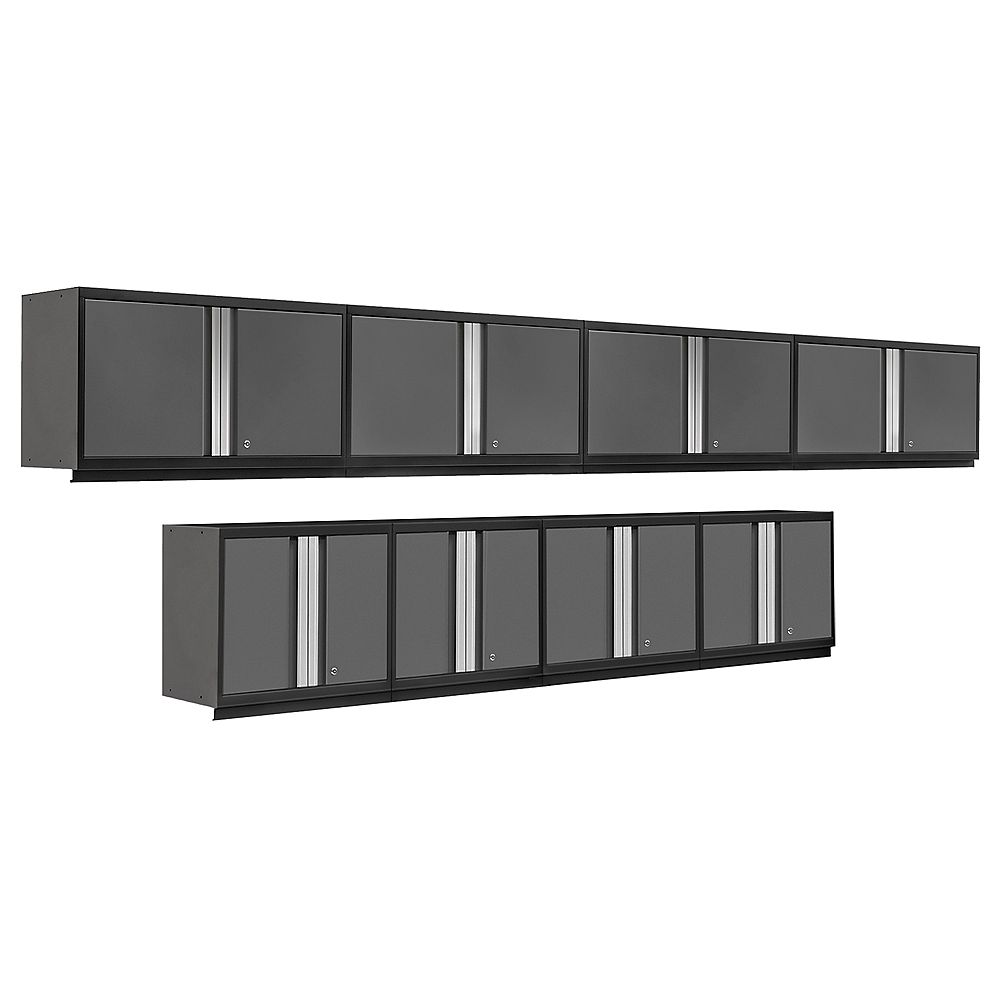 NewAge Products Pro Series Grey 8-Piece Cabinet Set