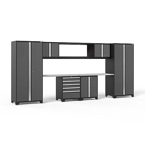 Pro Series Grey 9-Piece Cabinet Set