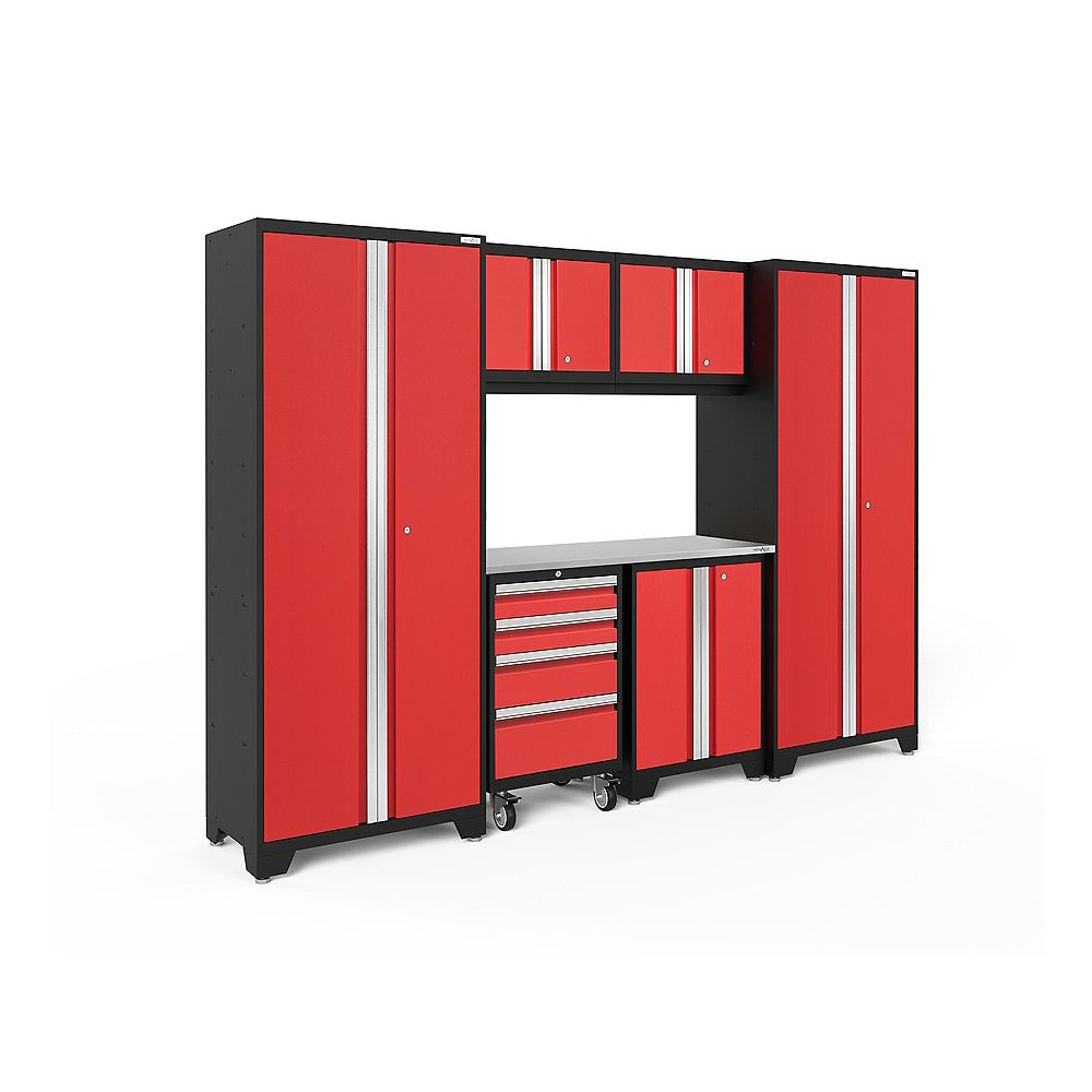 NewAge Products Bold Series Red 7-Piece Cabinet Set