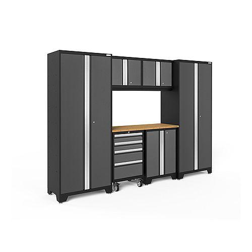 Bold Series Grey 7-Piece Cabinet Set