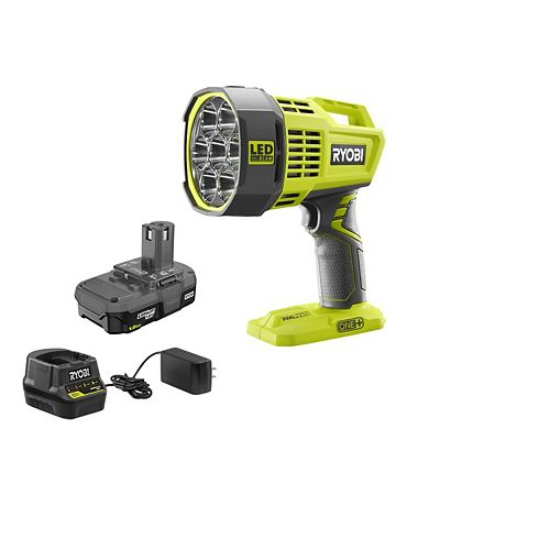 18V ONE+ Hybrid LED Spotlight Kit with 1.5 Ah Battery and Charger