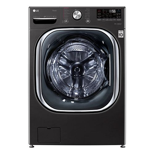 LG Electronics 5.8 cu. ft. Smart Front Load Washer with Artificial Intelligence and Wi-Fi in Black, Stackable - ENERGY STAR®