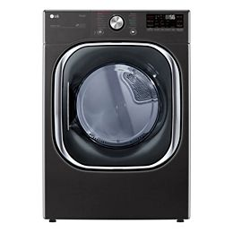 7.4 cu. ft. Smart Electric Dryer with Artificial Intelligence and Wi-Fi in Black, Stackable