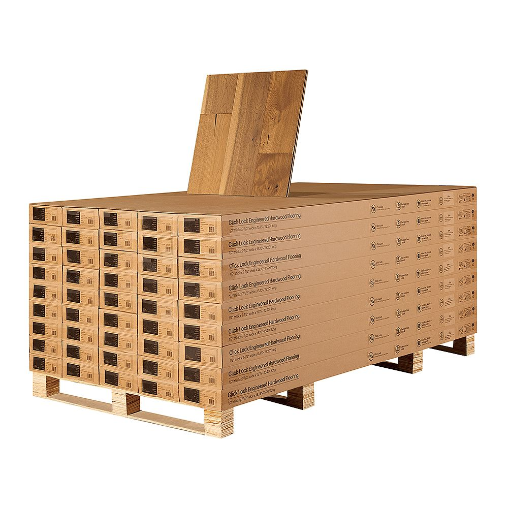Malibu Wide Plank French Oak Vanderbilt 1/2-inch T x 7.5-inch Wide x Eng Click Hardwood Flooring (1054.8 sq. ft./Pallet)