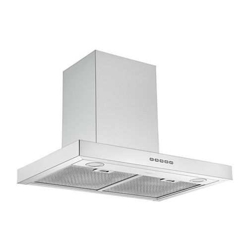 Ancona 30 in. 600 CFM Convertible Wall Mount Rectangular Range Hood in Stainless Steel