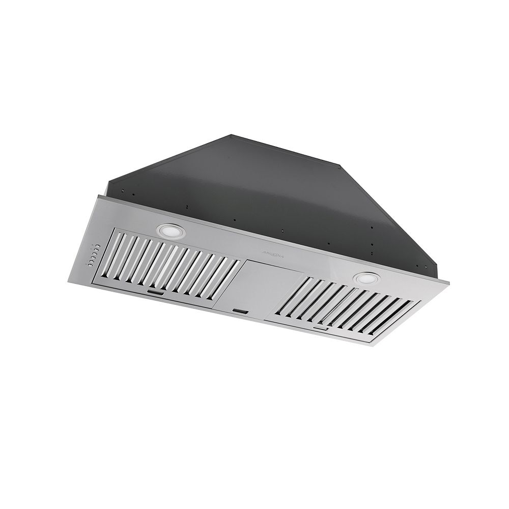 Ancona 34 in. 600 CFM Ducted Built-In Range Hood in Stainless Steel