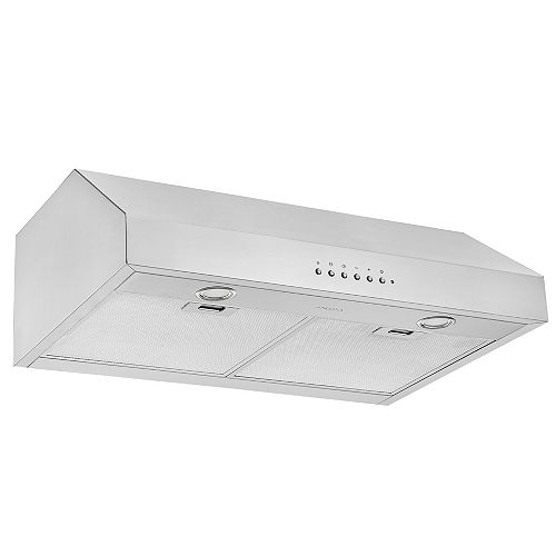 Ancona UCDI430 30 in. 450 CFM Ducted Under-Cabinet Range Hood in Stainless Steel with Night Light Feature