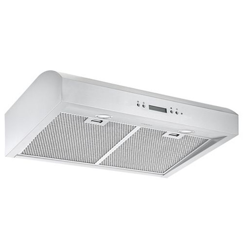 30 in. 700 CFM Ducted Under-Cabinet Range Hood in Stainless Steel with Night Light Feature