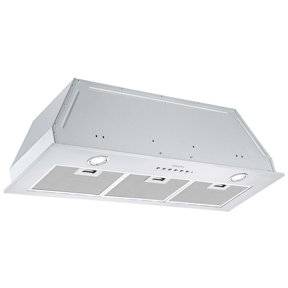 Ancona 36 in. 650 CFM Ducted Built-In Range Hood in Stainless Steel with Night Light Feature