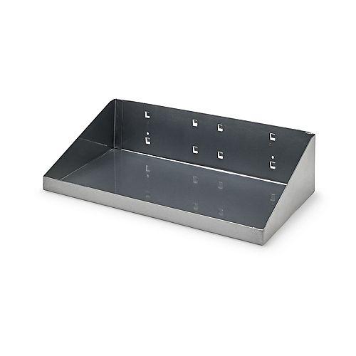 12 In. W x 6 In. D Silver Epoxy Powder Coated Steel Shelf for LocBoard