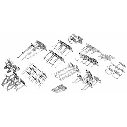 63 Pc Steel Hook Assortment for LocBoard