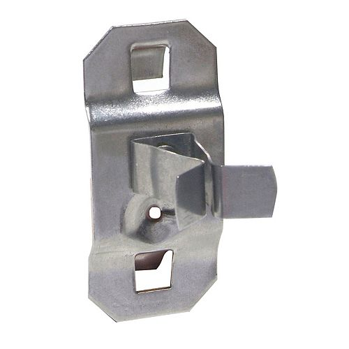 1/4 In. to 1/2 In. Hold Range 7/8 In. Projection Stainless Steel Extended Spring Clip, 3 Pack