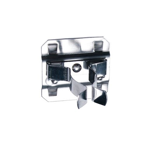 3/4 In. to 1-1/4 In. Hold Range 7/8 In. Projection, Stainless Steel Extended Spring Clip, 3 Pack