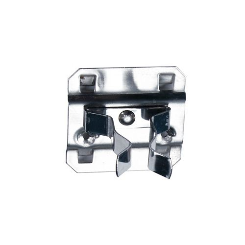1 In. to 2 In. Hold Range 2 In. Projection, Stainless Steel Extended Spring Clip, 3 Pack