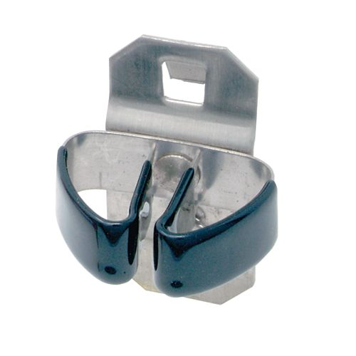 1/4 In. to 1/2 In. Hold Range Vinyl Dipped Stainless Steel Standard Spring Clip, 3 Pack