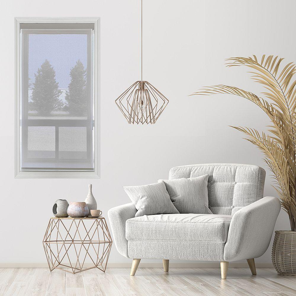 Trueview Store pare-soleil à enroulement en tissu Huître/gris perle 74.3 cm x 121.9 cm
