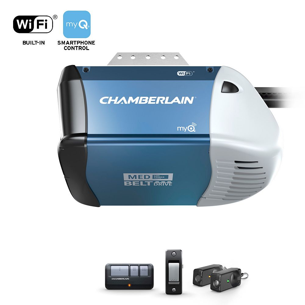 Chamberlain Smart Garage Opener with Quiet Belt Drive System
