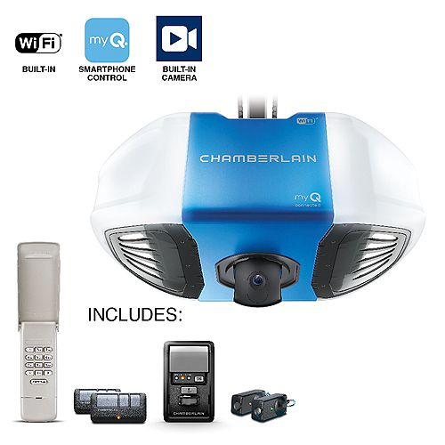 Chamberlain Secure View Smart Garage Opener with Built-In Motion Activated Camera