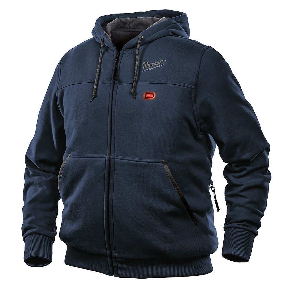 Milwaukee Tool Hommes X-Large M12 12V Lithium-Ion sans fil à capuchon chauffant bleu (Hoodie-Only)