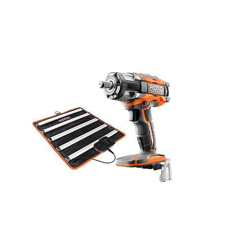 18V OCTANE Brushless Cordless 1/2-inch Impact Wrench and Mat Light  Kit