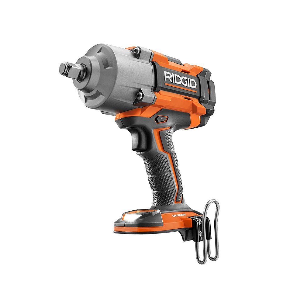 RIDGID 18V OCTANE Cordless Brushless 1/2-inch High Torque 6-Mode Impact Wrench (Tool-Only) with Belt Clip