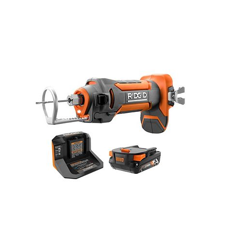 18V Cordless Drywall Cut-Out Tool Kit with 2.0 Ah Battery and Charger