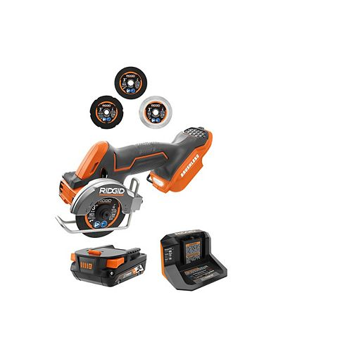 18V Brushless Sub-Compact Cordless Multi-Material Saw Kit with 2.0 Ah Battery, Charger and Accessories