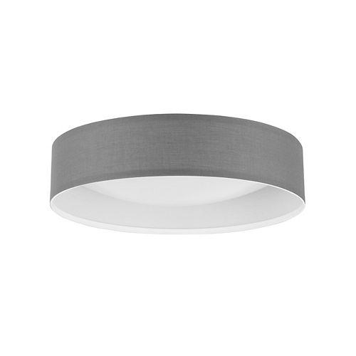 Eloise 9.8 W Grey Fabric LED Ceiling Flushmount