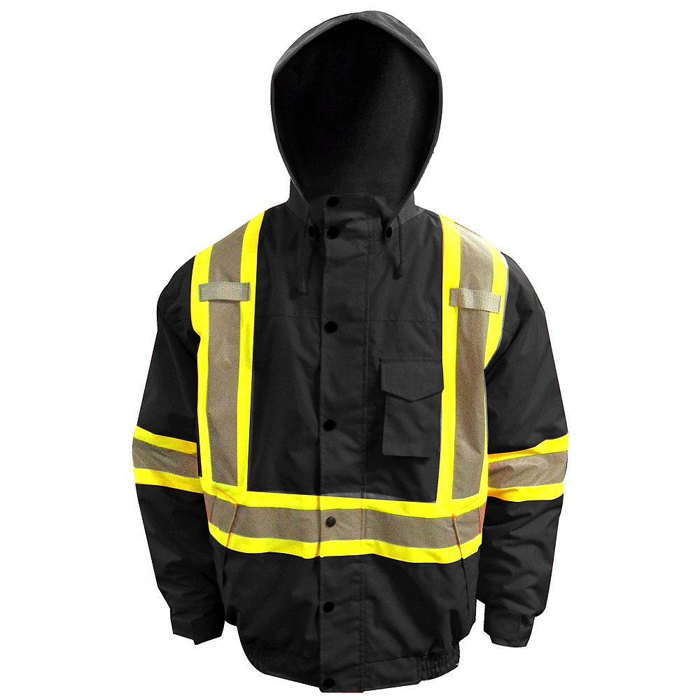 Storm Fighter Hi-Viz Insulated Bomber Jacket Size Large