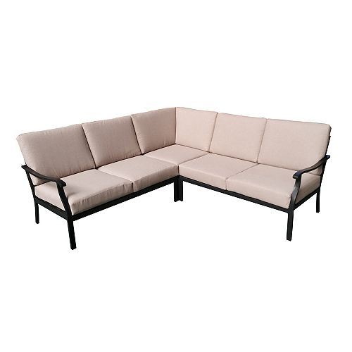 3 Pc Sectional with Riverbed Cushions