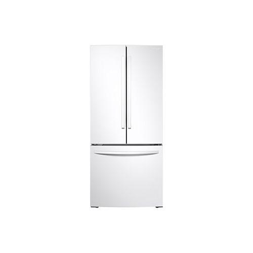 Réfrigérateur à porte française de 30 pouces de largeur et 21,8 pieds cubes en blanc, profondeur standard - ENERGY STAR®