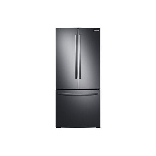 Réfrigérateur à porte française de 30 pouces de largeur et 21,8 pieds cubes en acier inoxydable noir, profondeur standard - ENERGY STAR®